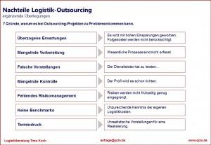 Logistik Outsourcing Nachteile