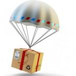 Paketzustellung mit einer Paketdrohne